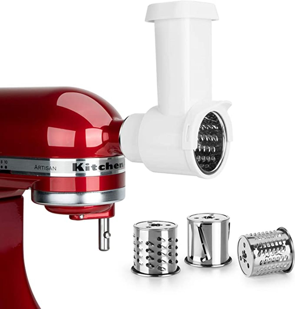 Slicer//Shredder Attachment for KitchenAid Stand Mixers as Vegetable Chopper Acce